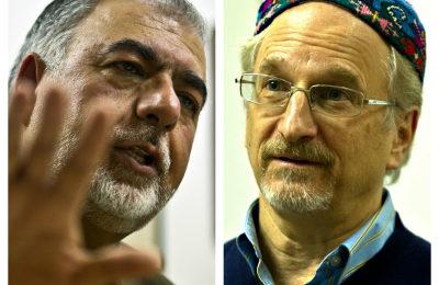 Monir Ludin, left, and Rabbi Stephen Booth-Nadav
