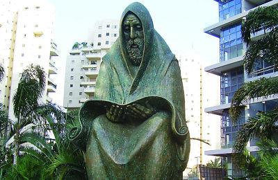 A memorial in Ramat Gan, Israel to the 1941 pogrom that killed 200 Iraqi Jews. (Piki-Wiki Israel)