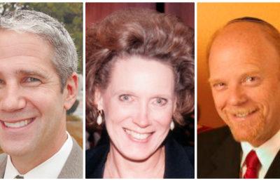 L-r: Rabbi Eliot Baskin, Jim Cohen, Jean Guthery, Cantor Joel Lictherman, Ellyn Hutt