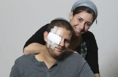 Shuki Gilboa with his wife Shlomit. (Tsachi Miri/TPS)