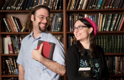 Yair Shahak, left, and Yaelle Frohlich (David Khabinsky/YU)
