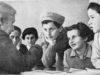 Hadassah founder Henrietta Szold meeting with Tehran Children in Israel, February, 1943. (Jewish Agency for Israel)