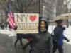 Lisa Davidson joined the New York rally.