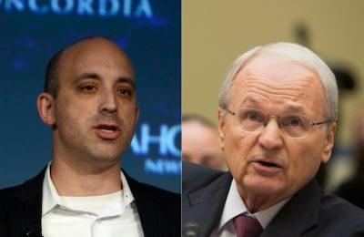 Jonathan Greenblatt, left, and Mort Zuckerman