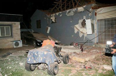 Damage in Southern Israel after Hamas fires hundreds of rockets. (Reuven Sagron/TPS)