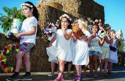Shauvuot celebrations at Kibbutz Emek Yizrael